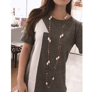Jewelry - Faux Pearl Chain Necklace